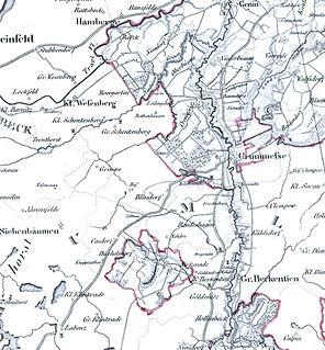 Karte 1827 Ausschnitt