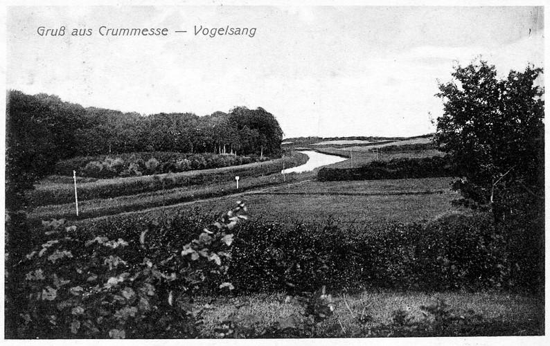 Der Vogelsang am Kanal um 1910