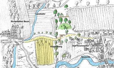 Ausschnitt aus der Sitenschen Karte von (1609)