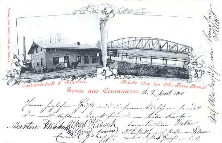 Gastwirtschaft und Kanalbrücke