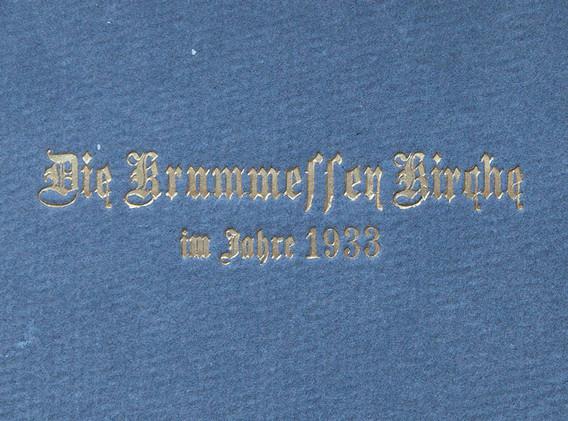 Die Krummesser Kirche im Jahre 1933