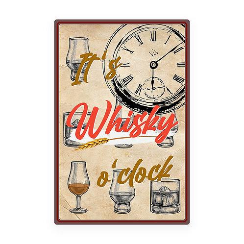 "Vintage Blechschild ""Whisky o'clock"""