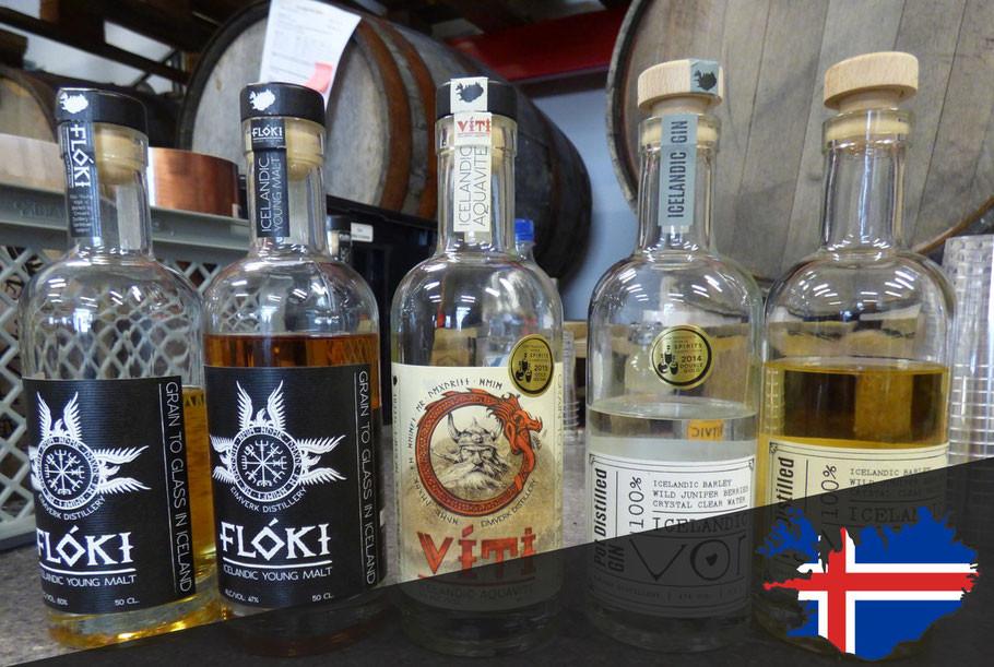 Floki Whisky und Gin