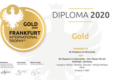 Gold auf der Frankfurt International Trophy