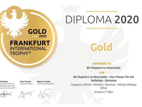 Gold auf der Frankfurt International Trophy