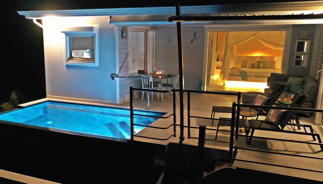 La suite nuptiale, la villa Blue Moon