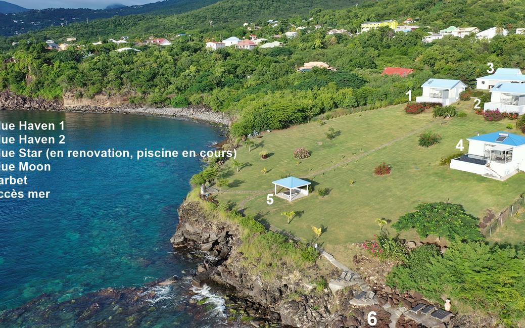 Les quatre villas de *Blue Haven Villas Guadeloupe*