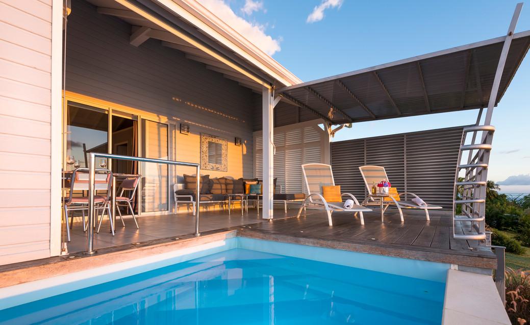 Les piscines des villas Blue Haven 1 & 2