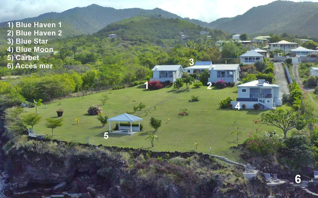 Les quatres villas de *Blue Haven Villas Guadeloupe*