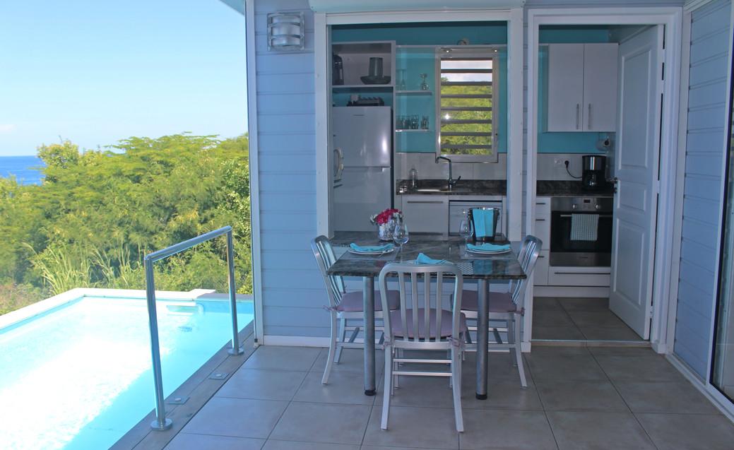 Les cuisines des villas Blue Haven 1 & 2