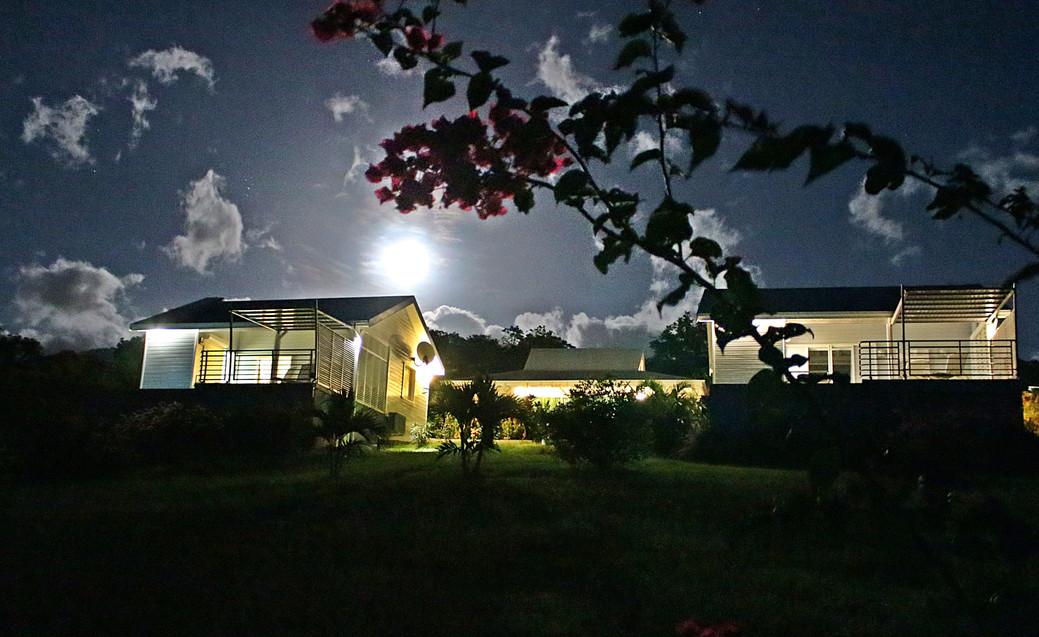 Les villas sous une super lune