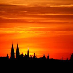 Sonnenuntergang, Bremen