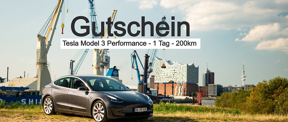 Gutschein Tesla Model 3 Performance (1 Tag)
