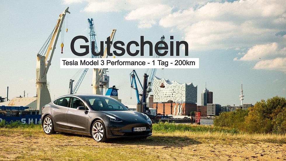 Gutschein Tesla Model 3 Performance (1 Tag)