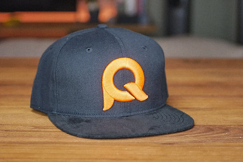 Cap schwarz & orange / PQ002