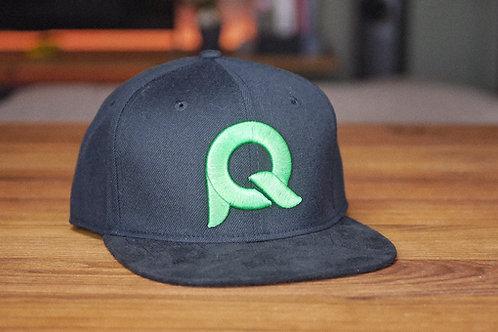 Cap schwarz & grün / PQ002