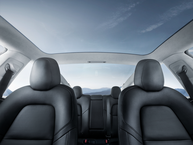Model 3 - Interior Glass Roof Blue Sky.p