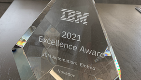 Novadoc ECM wint 2021 IBM Business Unit Excellence Award voor Embedded Solutions