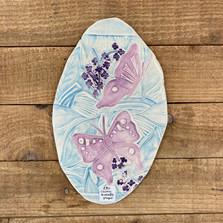 Beautifully unique ceramic plaque by Clay Way.