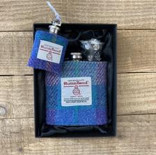 Stunning  Harris Tweed®️ flasks and keyrings by Tweedie Bags.
