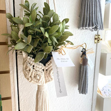 Stunning macramé plant holders and key rings by The Boho Set.