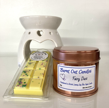 Candles and wax melts by Burnt Out Candles.