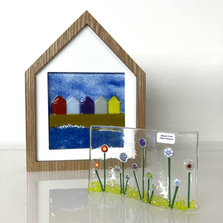 Stunning glass decorations by Glazed Over Glass.
