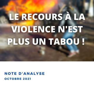 Activisme - le recours à la violence n'est plus un tabou