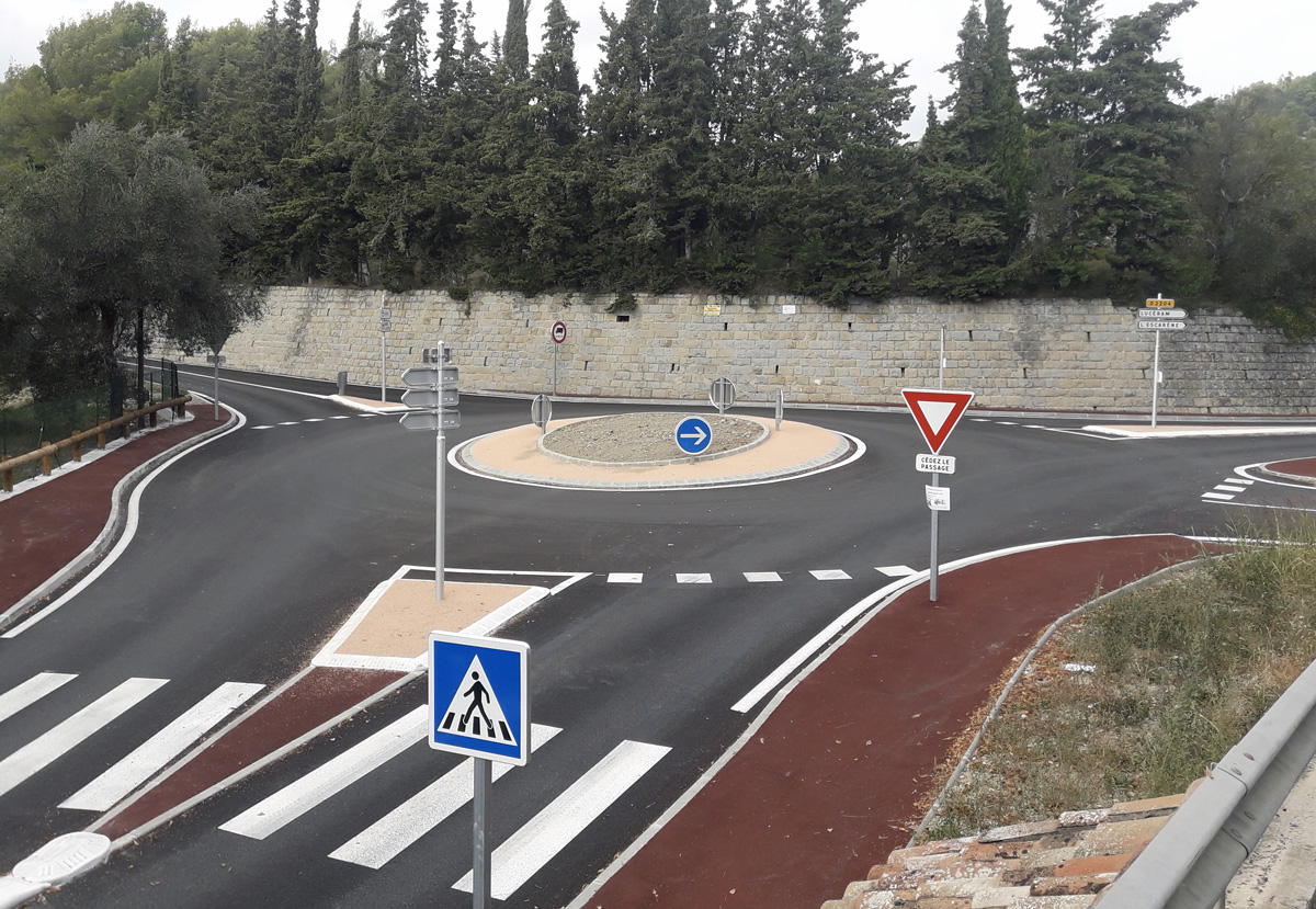 Rond point de l'Escarène