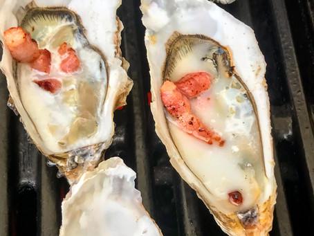 Des huîtres au barbecue