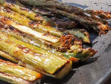 Asperges vertes grillées au barbecue