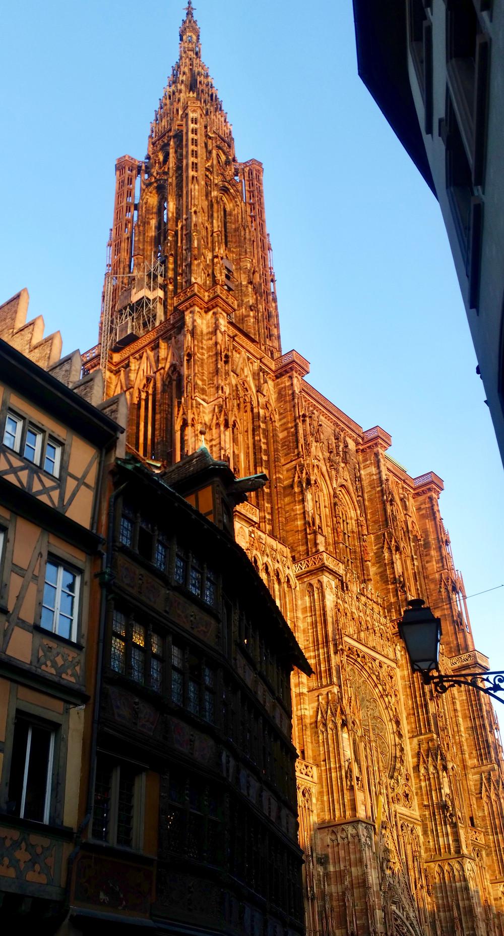 Cathédrale de Strasbourg et l'ombre de la Maison Kammerzell