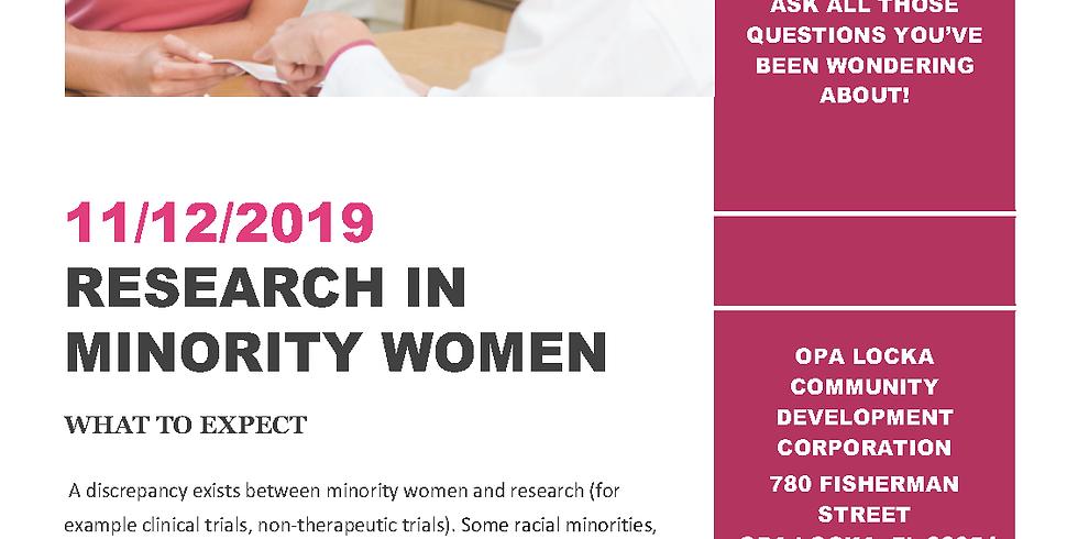 Research In Minority Women Seminar