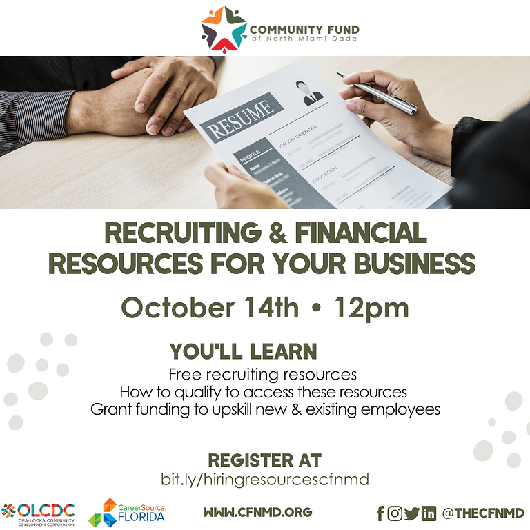 Recruiting & Financial Resources For Your Business
