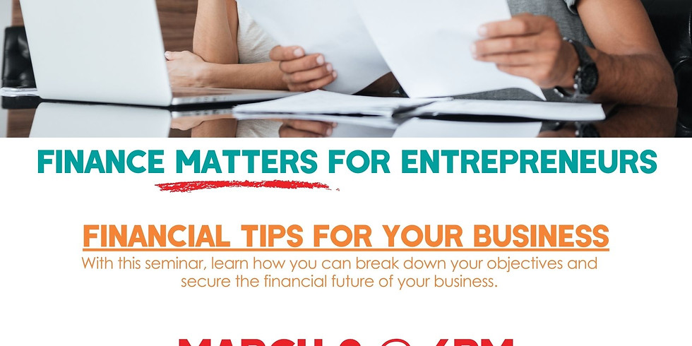 Finance Matters: Financial Tips for your Business