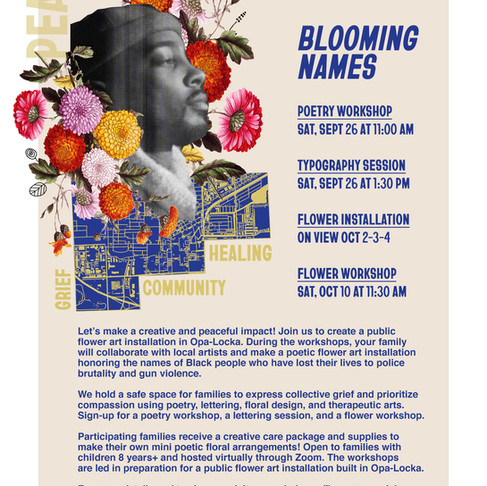 Blooming Names: A Flower Memorial Honoring Black Lives