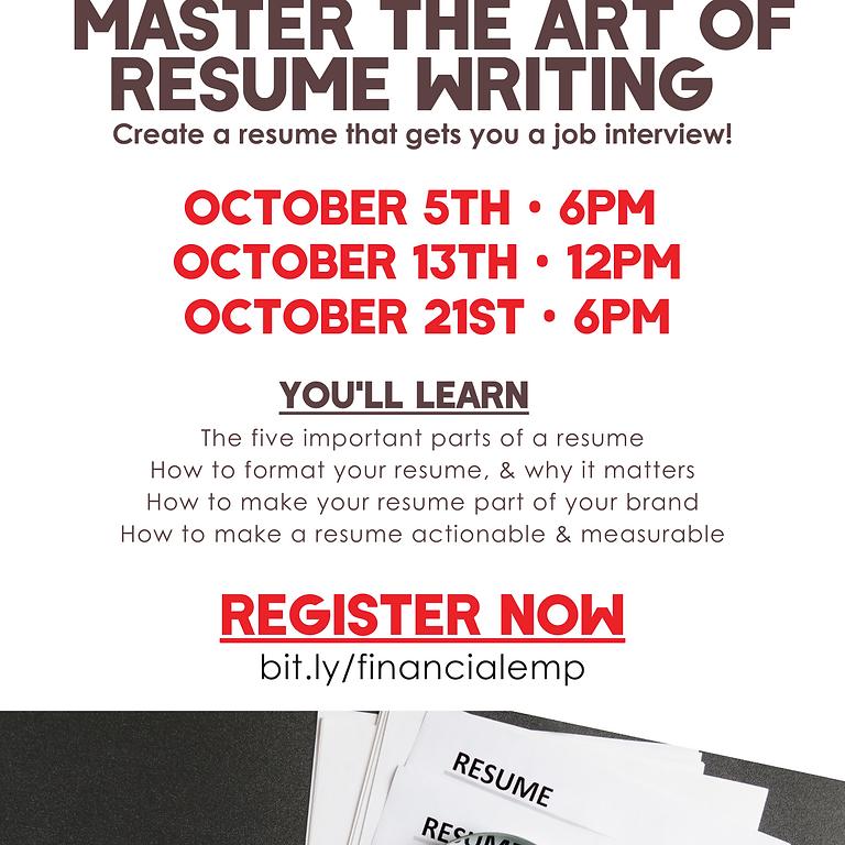 Master The Art of Resume Writing Seminar