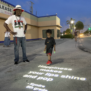 Opa-Locka Light District illuminates voices of local residents by displaying short poems