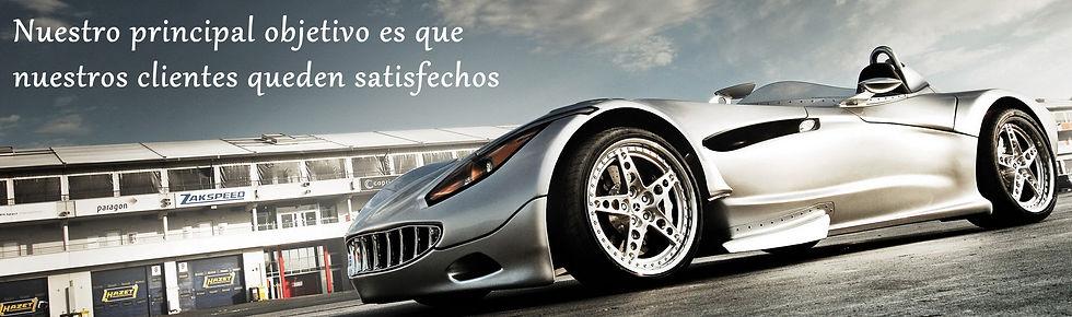 Taller G.J.D. Auto Body, coche deportivo con el lema