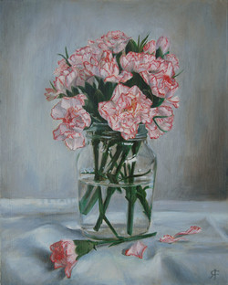 Carnations Oil Painting insta