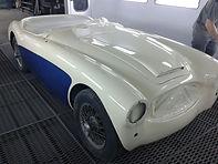 Taller G.J.D. Auto Body, cabina de pintura