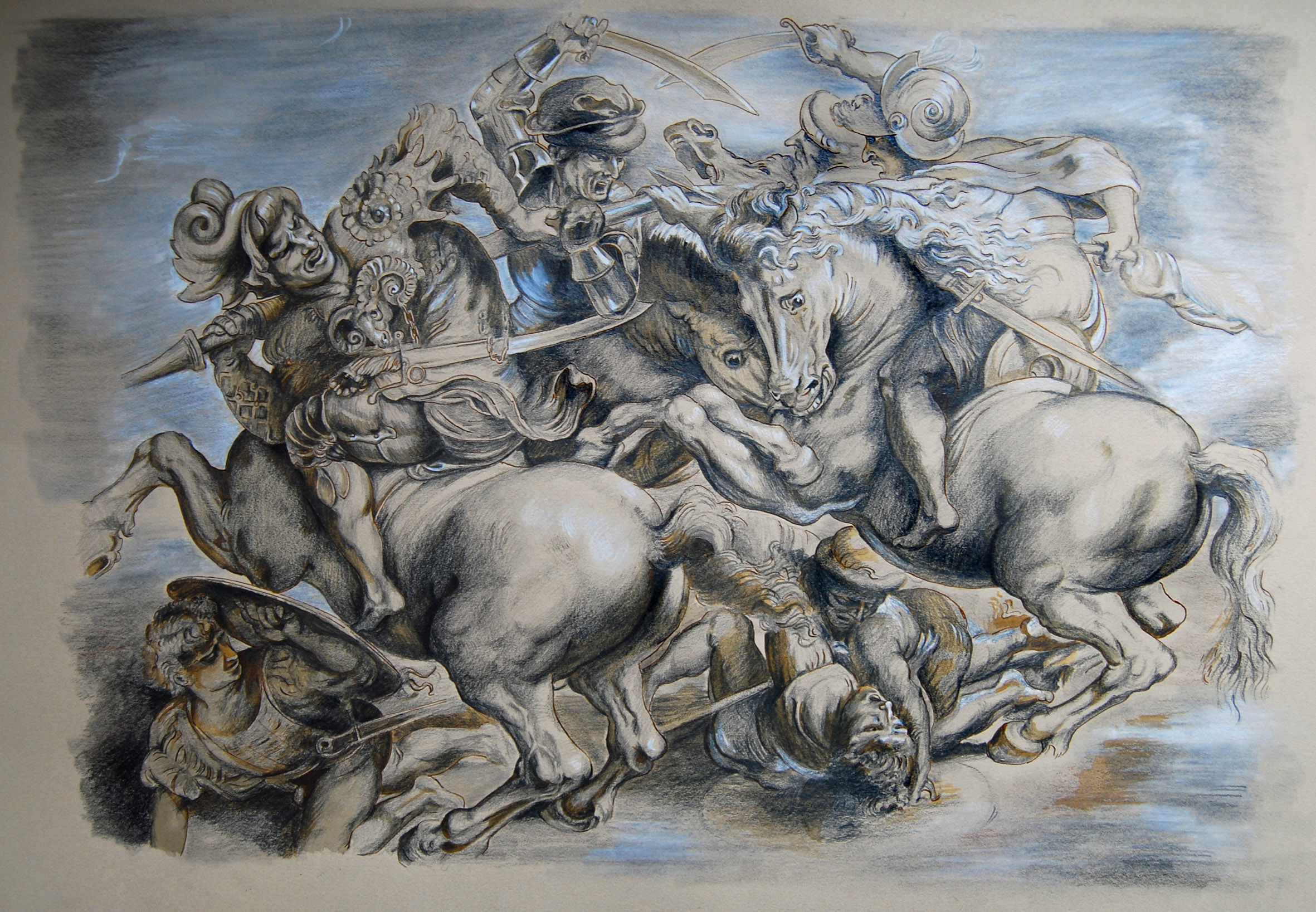 After Rubens' Battle of Anghiari