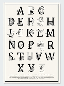 A-Z British Animals Poster