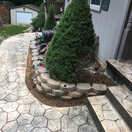 Concrete Tile Sidewalk
