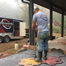 Stamping concrete gehman's concrete North Carolina Concrete Contractor