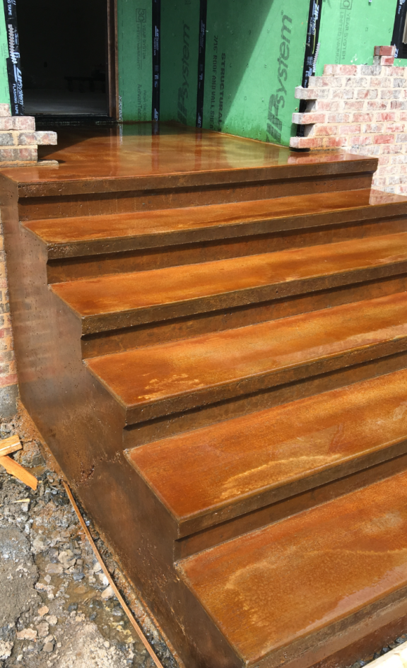 Stained Concrete stairs