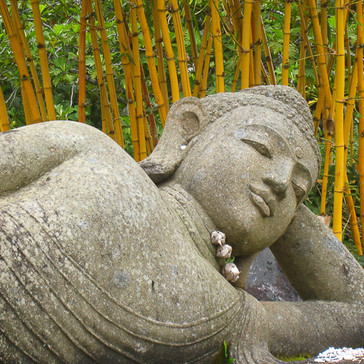 Reclining Buddha with Bamboo