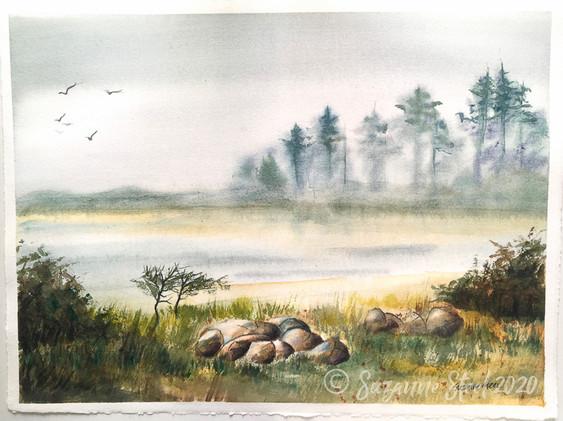 Misty Morning - Ona Beach State Park