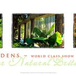 Minter Gardens Triptych Poster