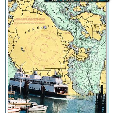 Friday Harbor Nautical Chart Poster